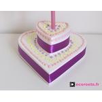 lampe de chevet enfant bébé fille gateau rose violet coeur 3