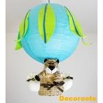 lampe montgolfière thème jungle tigre bleu turquoise garçon
