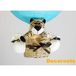 lampe montgolfière thème jungle tigre bleu turquoise garçon décoration
