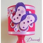 lampe de chevet enfant bébé fille papillon fuschia violet 2