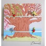 pêle mêle enfant bébé nature arbre chouette oiseau poétique