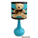 lampe de chevet enfant bébé ours turquoise chocolat