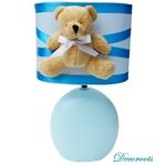 lampe de chevet enfant bébé garçon ours bleu turquoise
