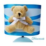 lampe de chevet enfant bébé garçon ours bleu turquoise décoration chambre