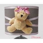 lampe chevet enfant bébé fille ours taupe rose pastel décoration chambre