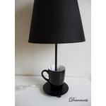 lampe de chevet design tasse noir décoration