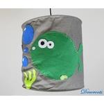 lampe suspension enfant bébé poisson thème mer marin gris vert anis bleu