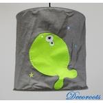 lampe suspension enfant bébé poisson thème mer marin gris vert anis bleu décoration