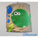 lampe suspension enfant bébé poisson thème mer marin gris vert anis bleu décoration 3