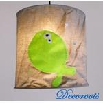lampe suspension enfant bébé poisson thème mer marin gris vert anis bleu décoration 2