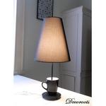 lampe design tasse noir métal