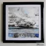 cadre déco aquarelle mer bord de mer marine plage décoration