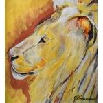cadre déco aquarelle lion jungle safari ethnique décoration