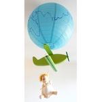 lampe mo,tgolfière enfant bébé tigre en avion collection jungle
