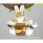 lampe lapin forêt décoration
