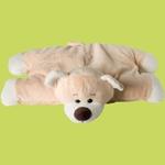 peluche coussin ours beige