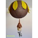 lustre enfant bébé thème jungle vert anis marron chocolat jaune éléphant