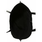 sac cuir noir peint à la main artiste