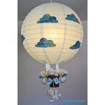 lampe montgolfière enfant bébé nuage mouton ciel turquoise 2