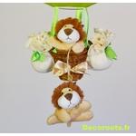 lampe montgolfière jungle lion 22