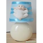 lampe chevet enfant bébé mouton bleu turquoise pastel blanc