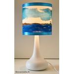 lampe enfant chevet phare mer marin thème bleu turquoise profil