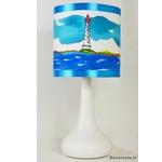 lampe enfant chevet phare mer marin thème bleu turquoise