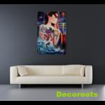 tableau art contemporain femme terre mer