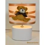 lampe de chevet enfant bébé beige blanc marron chocolat ours