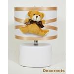 lampe de chevet enfant bébé beige blanc marron chocolat