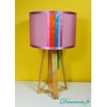 lampe design perroquet bois plume multicolore exotique 3