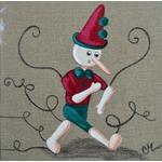 tableau enfant bébé pinnochio conte fée 2