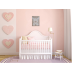 tableau enfant bébé lapin peluche taupe beige 2