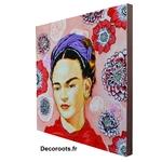 tableau portrait frida kahlo contemporain décoration
