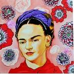 tableau art contemporain portrait frida kahlo