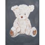 tableau enfant bébé ours mixte gris beige
