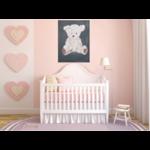 tableau enfant bébé ours gris beige mixte