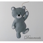lustre suspension abat jour lampe ours gris beige blanc mixte garçon fille chambre 2