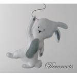 lustre suspension abat jour lampe lapin gris beige blanc mixte garçon fille chambre 2
