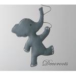 lustre suspension abat jour lampe elephant gris beige blanc mixte garçon fille chambre 2