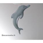 lustre suspension abat jour lampe dauphin gris beige blanc mixte garçon fille chambre 2