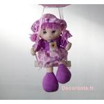 lampe lustre fille poupée balançoire parme rose blanc