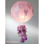 lampe lustre fille poupée balançoire parme rose blanc luminaire