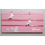 pele mele fille rose corail ours polaire blanc