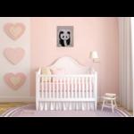 tableau enfant bébé panda décoration beige noir et blanc prénom 4