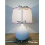 lampe de chevet fille ours blanc rose beige étoile 2