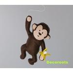 lustre enfant bébé jungle singe vert anis jaune marron chocolat banane