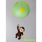 lustre enfant bébé jungle singe vert anis jaune marron chocolat