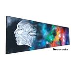 tableau design la brume noir multicolore art artiste