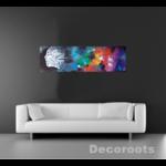 tableau design la brume noir multicolore art artiste 2